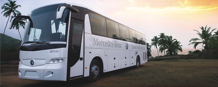 Parveen travels introduces mercedes benz luxury bus for Mercedes benz coach bus price