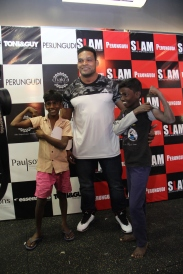 Rajendran Mani with kids