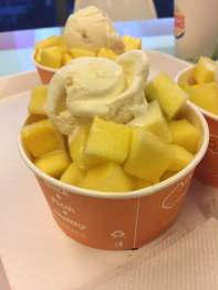 Mango with icecream