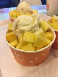 Mango with icecream