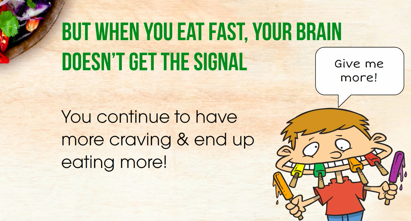 Brain doesnt get signal when you eat fast