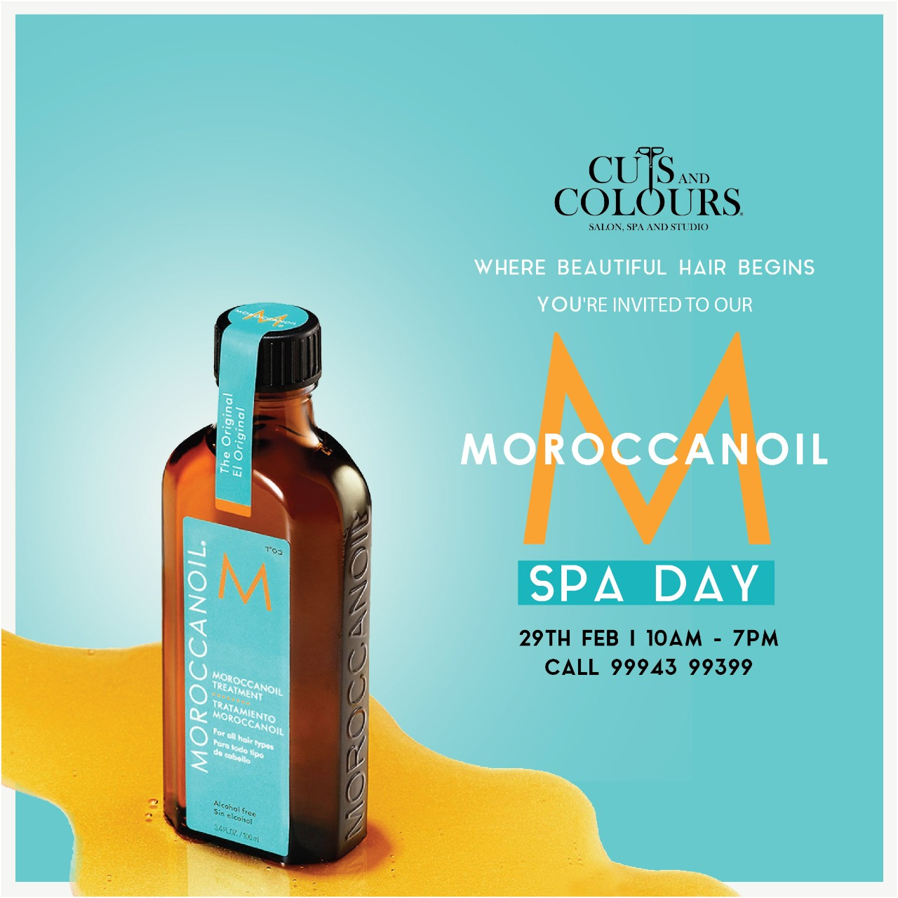 MorocconOil Hair Spa at Cuts and Colors, Royapettah